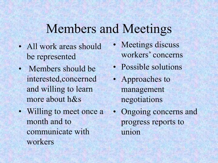 Members and meetings