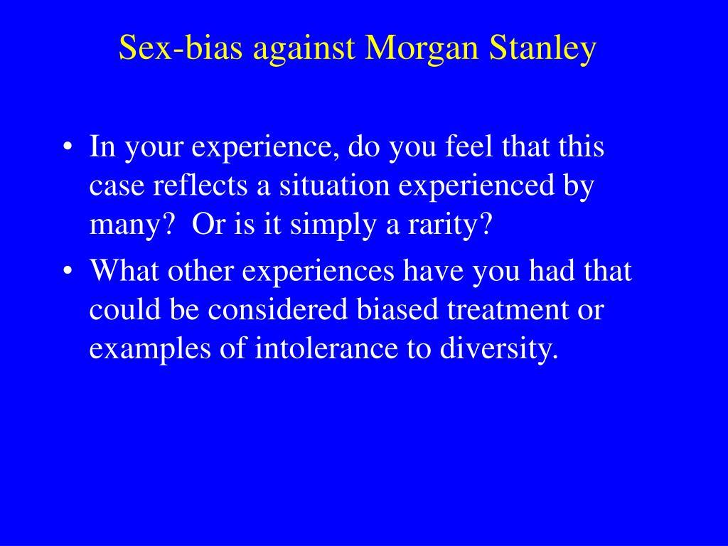 sex bias against morgan stanley l.