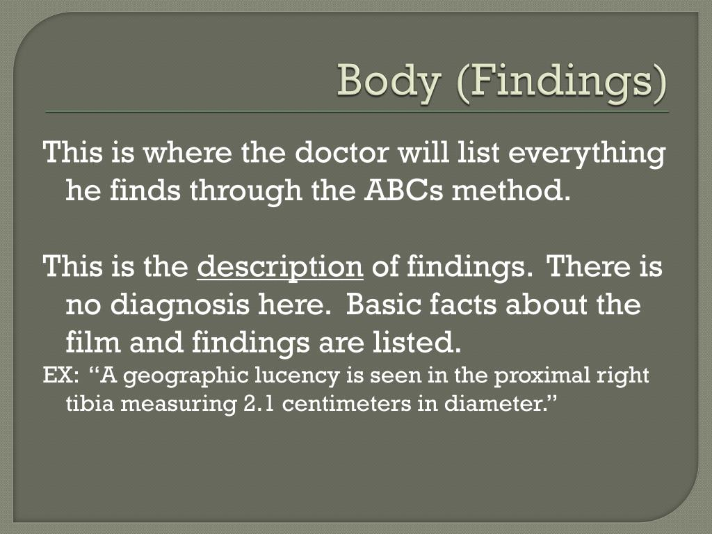 Body (Findings)