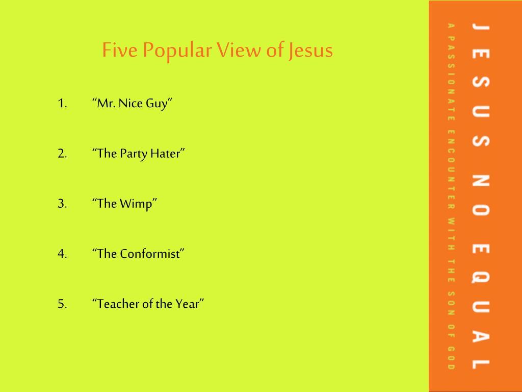 Five Popular View of Jesus