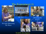 the experiment 1