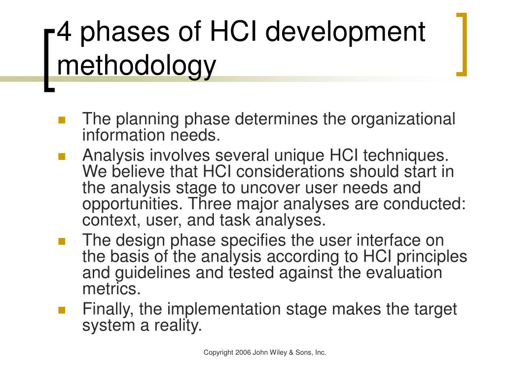 4 phases of HCI development methodology