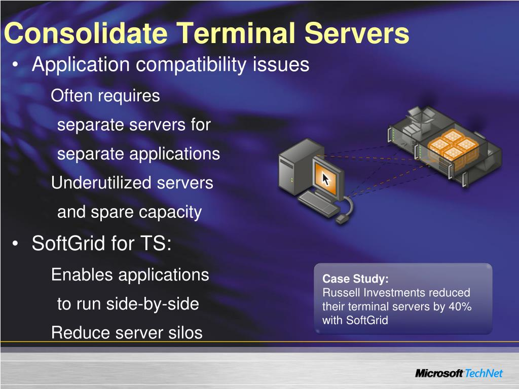 Consolidate Terminal Servers