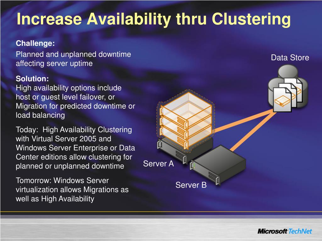 Increase Availability thru Clustering