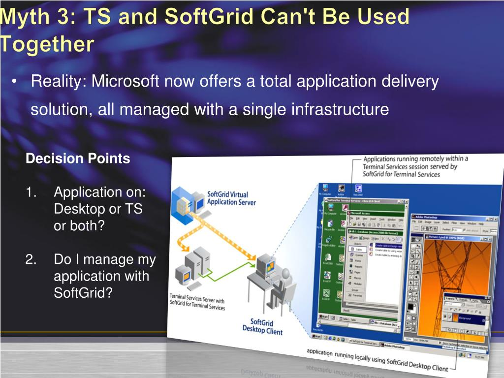Myth 3: TS and SoftGrid Can't Be Used Together