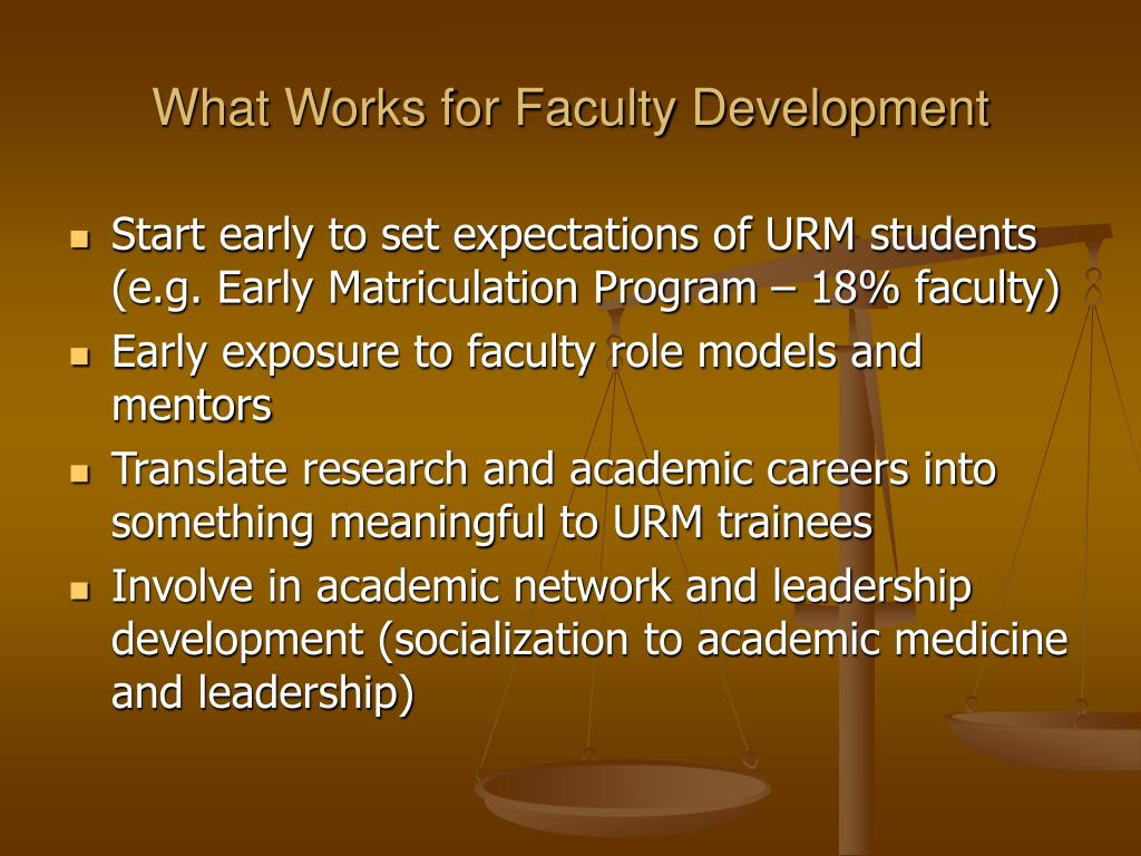 What Works for Faculty Development