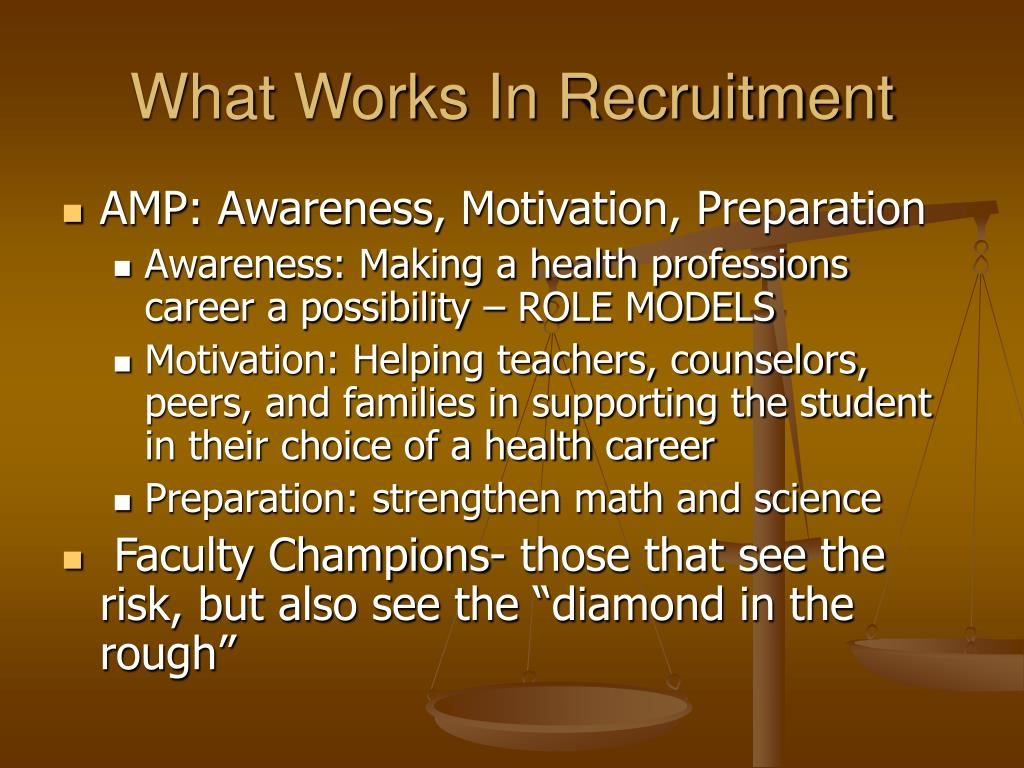 What Works In Recruitment