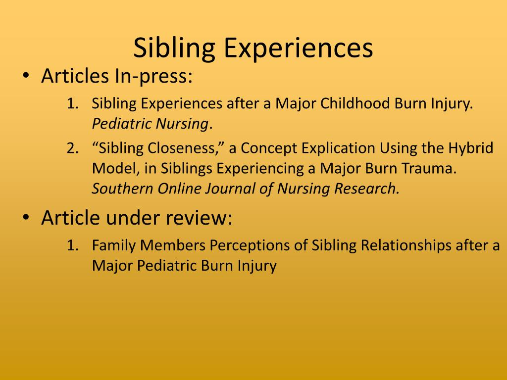 Sibling Experiences