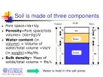 soil is made of three components