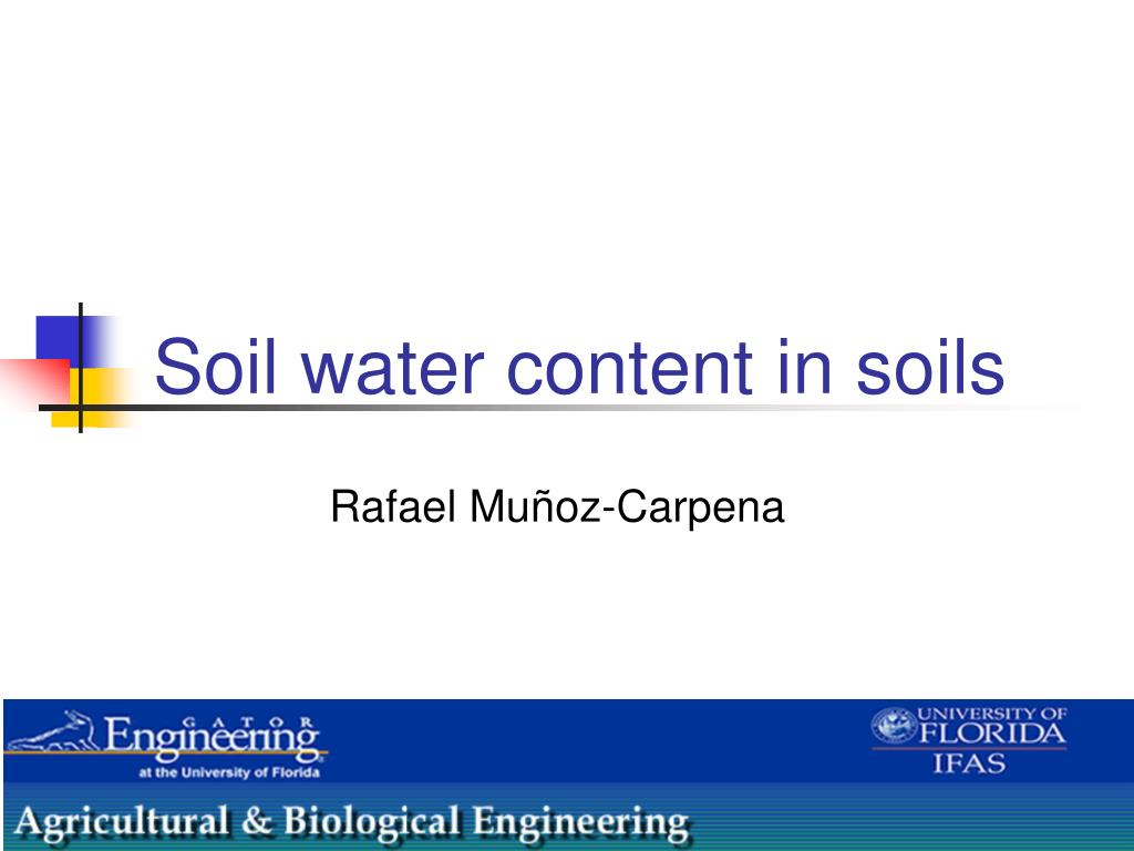 soil water content in soils l.
