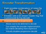 encoder transformation