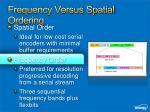 frequency versus spatial ordering
