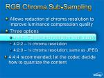 rgb chroma sub sampling