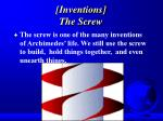inventions the screw