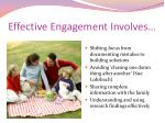 effective engagement involves10