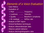 elements of a voice evaluation