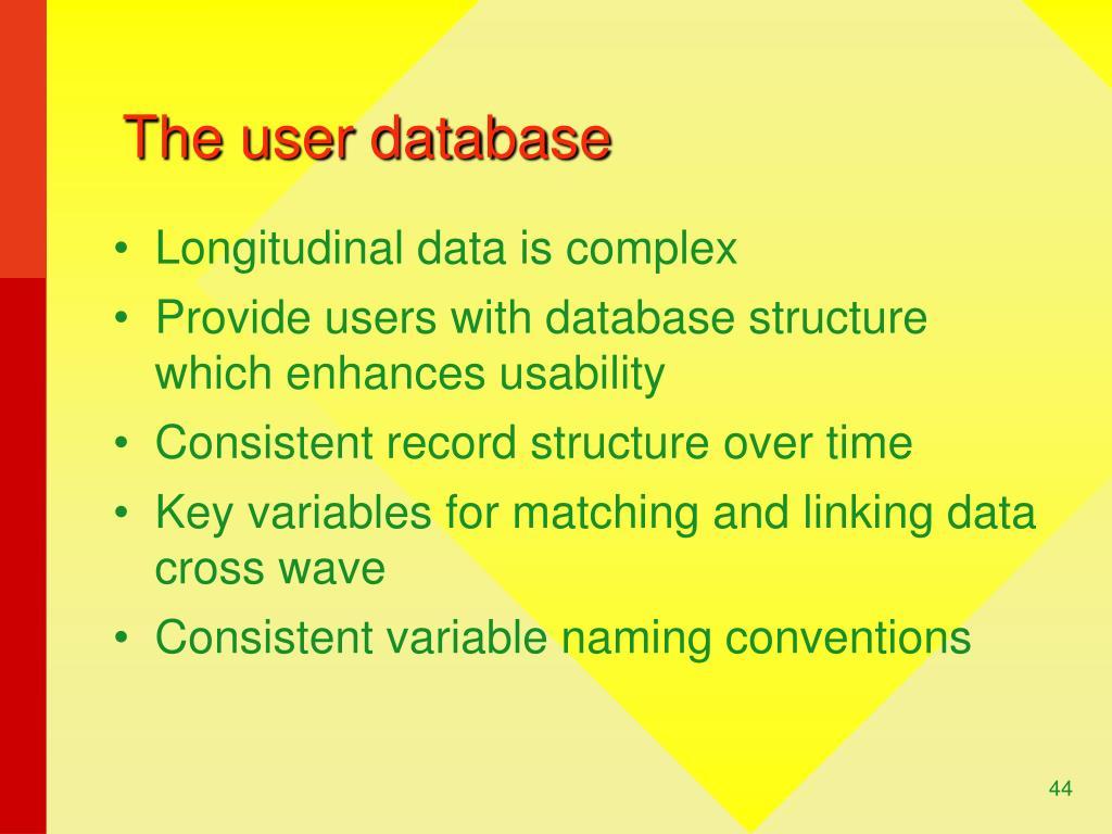 The user database