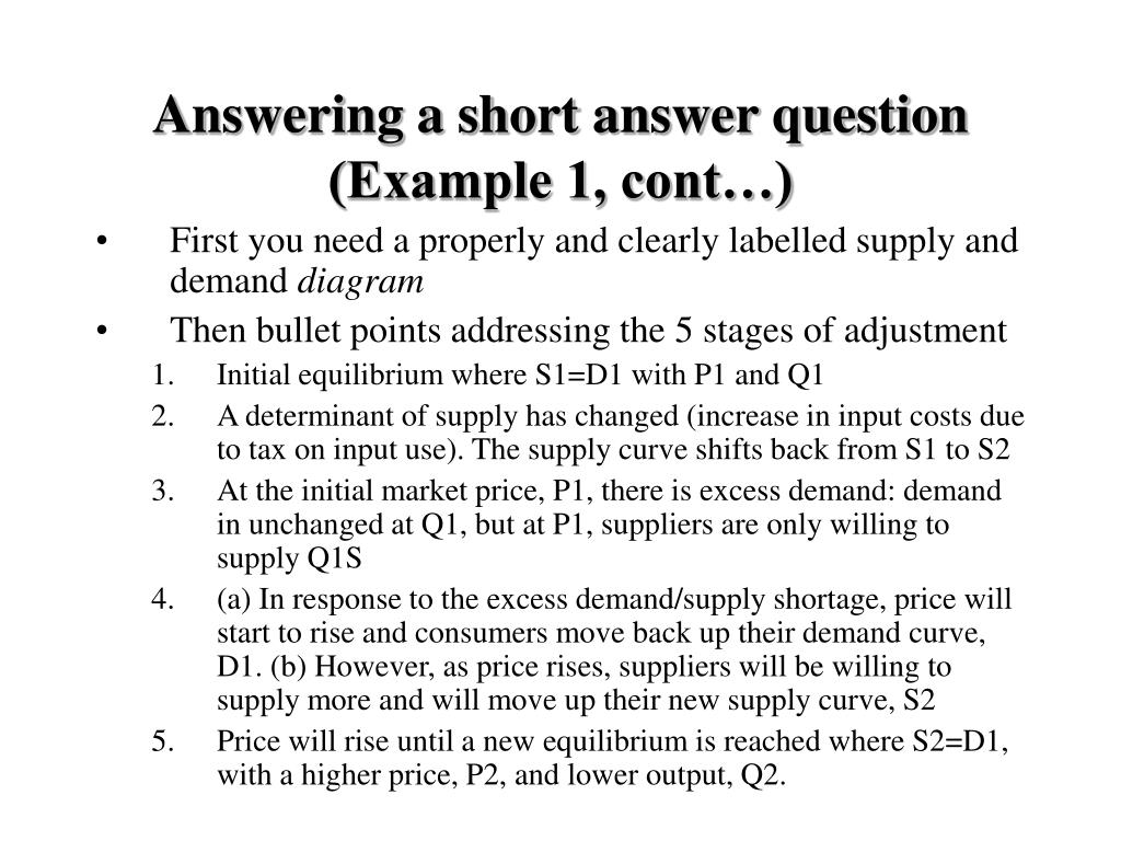Answering a short answer question (Example 1, cont…)