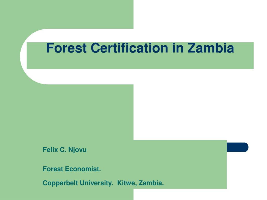 Forest Certification in Zambia
