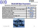 telis sir main parameters parameters determined by digital correlator are in parentheses