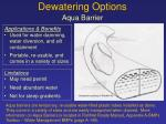 dewatering options7