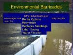 environmental barricades
