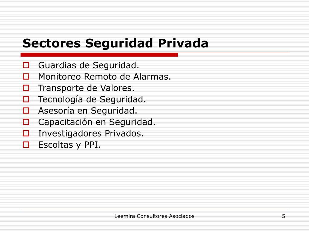 Sectores Seguridad Privada