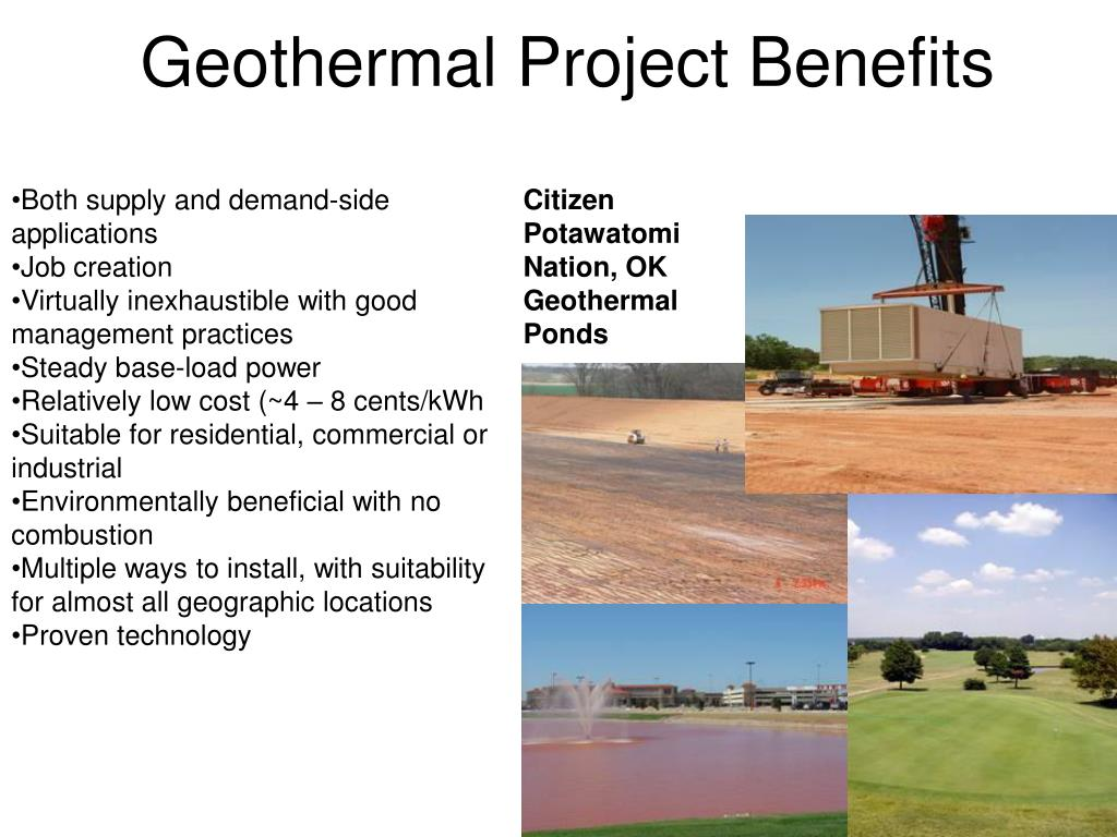 Geothermal Project Benefits