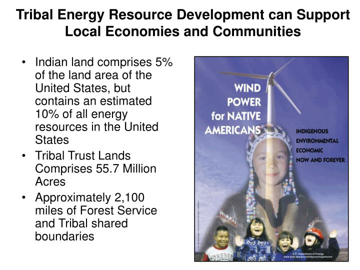 Tribal energy resource development can support local economies and communities