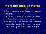 how the display works