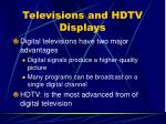 televisions and hdtv displays