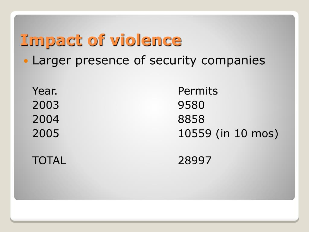 Larger presence of security companies