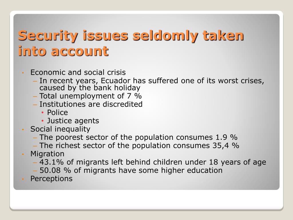 Economic and social crisis