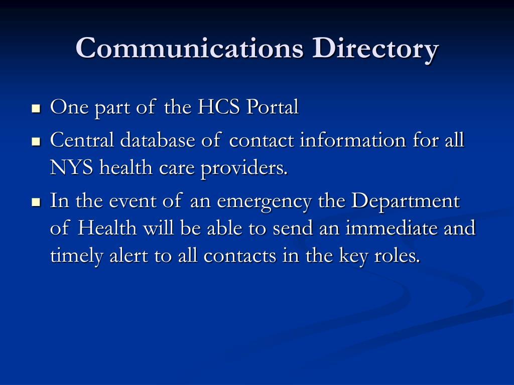 Communications Directory