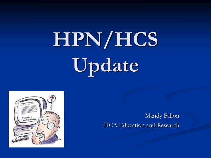 Mandy fallon hca education and research