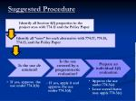 suggested procedure