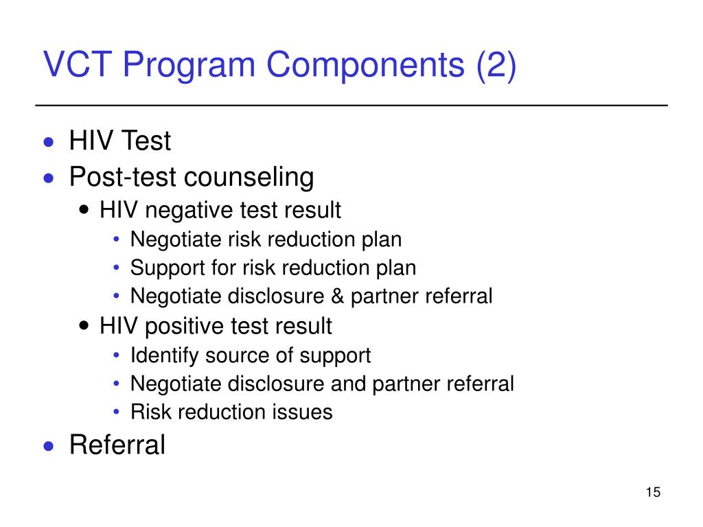 Counseling, Testing & Referral