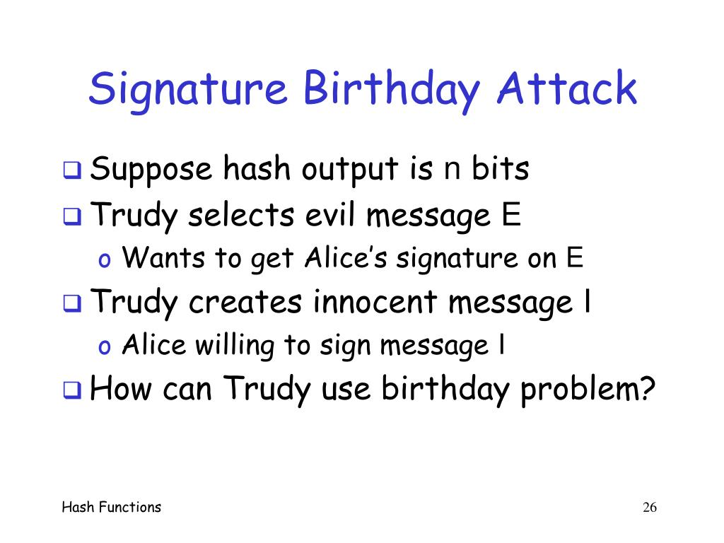 Signature Birthday Attack