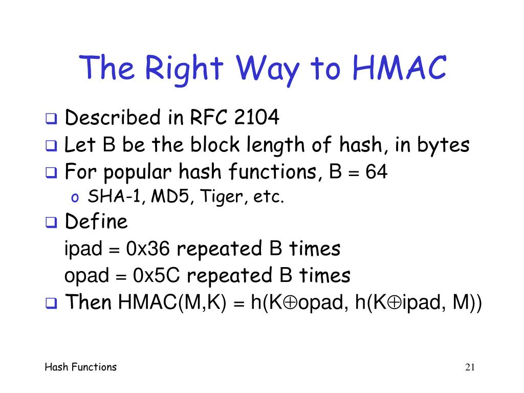 The Right Way to HMAC