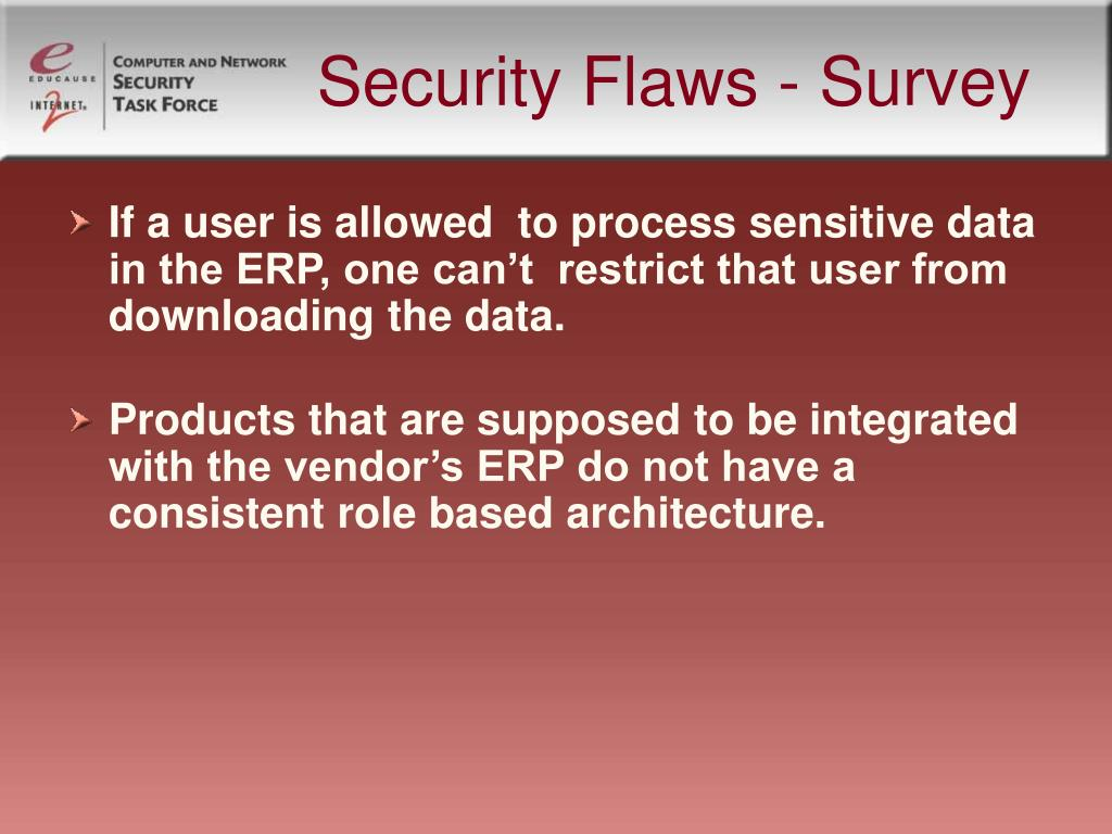 Security Flaws - Survey