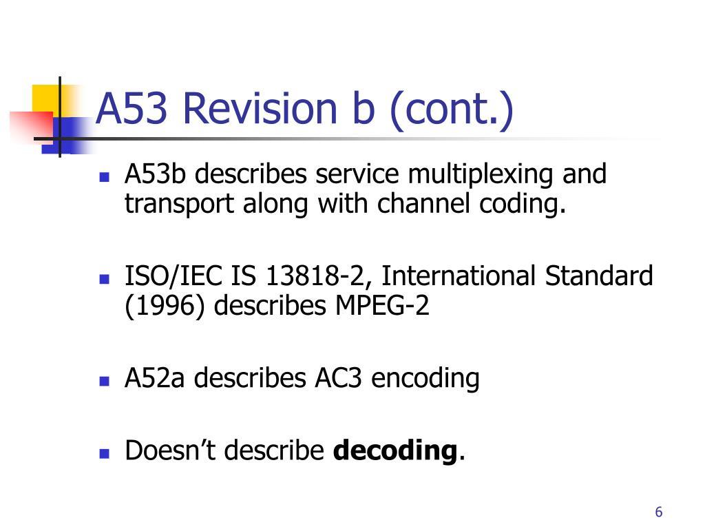 A53 Revision b (cont.)