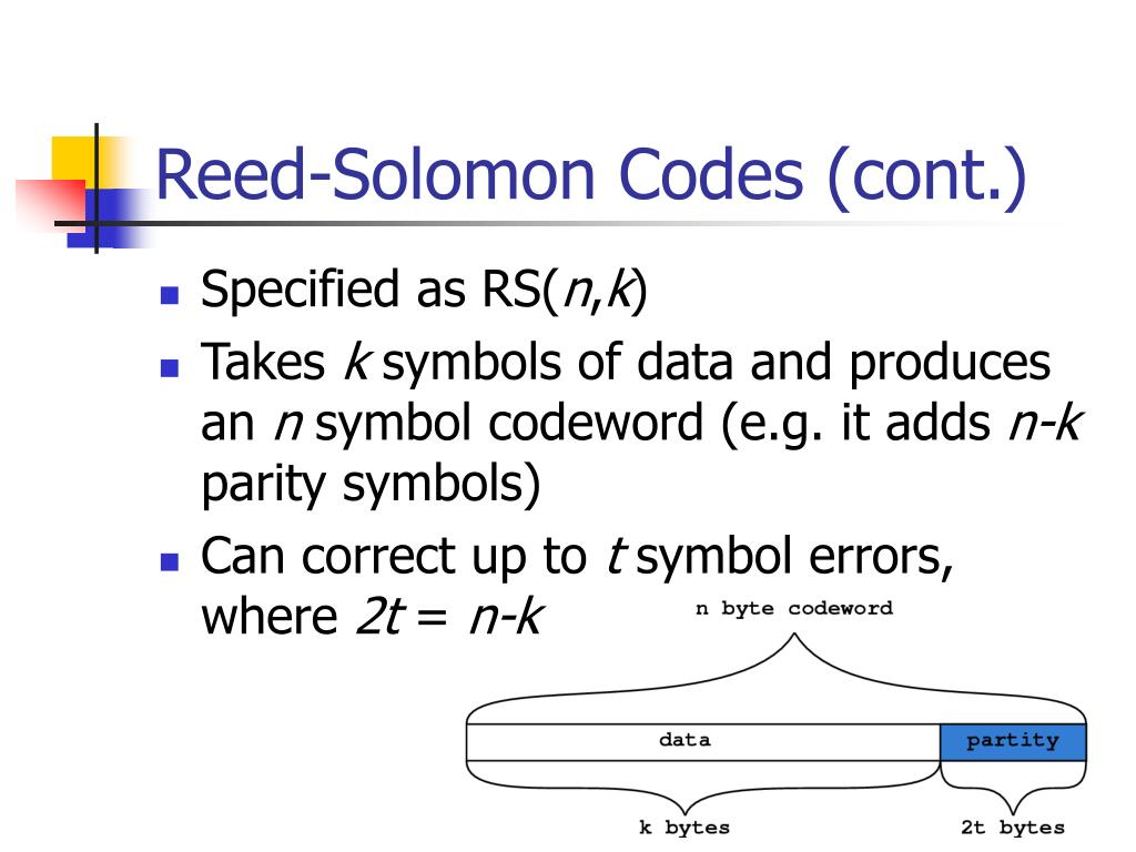 Reed-Solomon Codes (cont.)