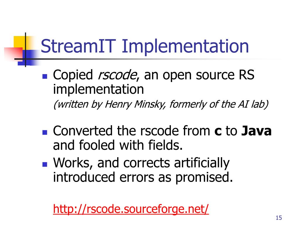 StreamIT Implementation