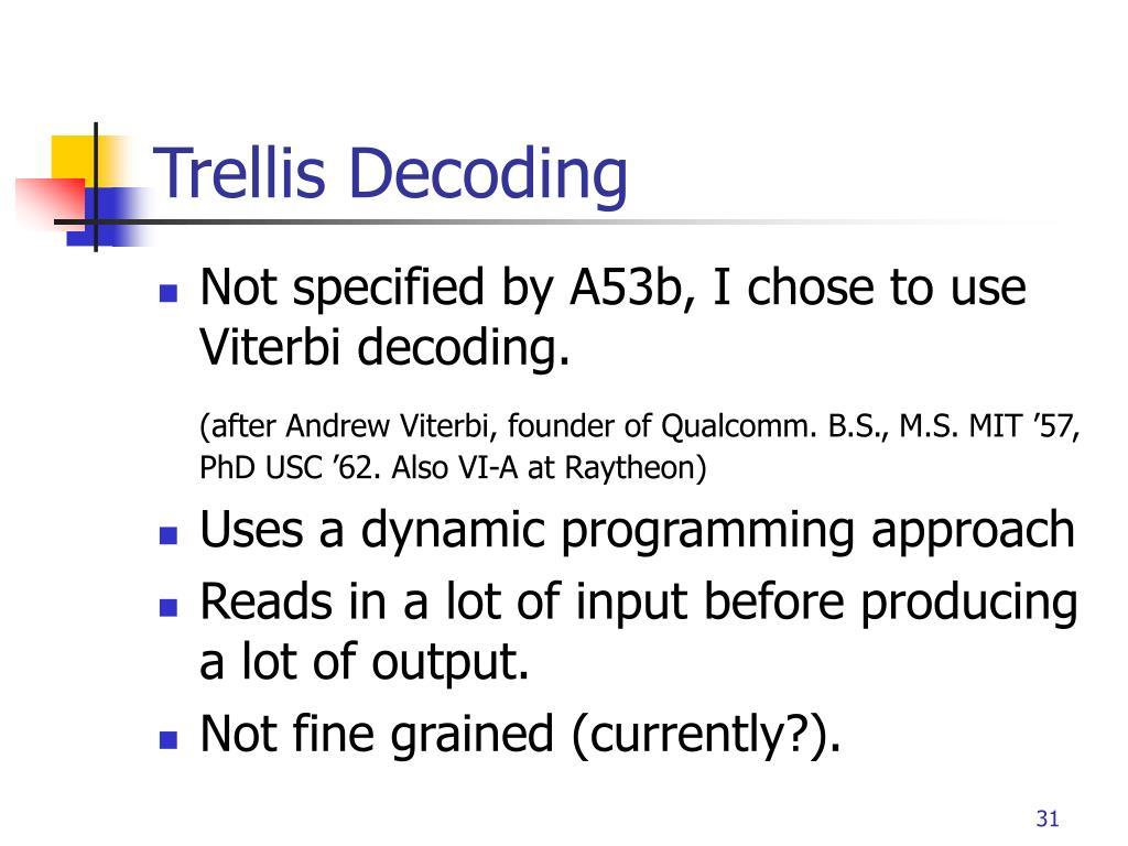 Trellis Decoding