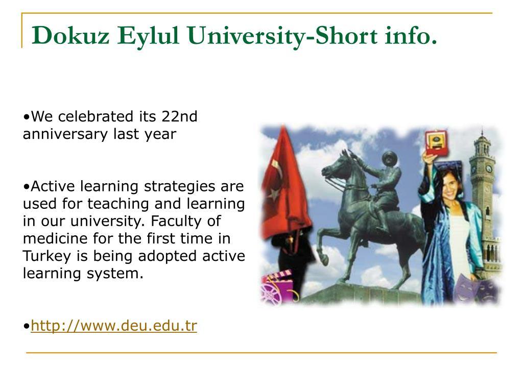 Dokuz Eylul University-Short info.