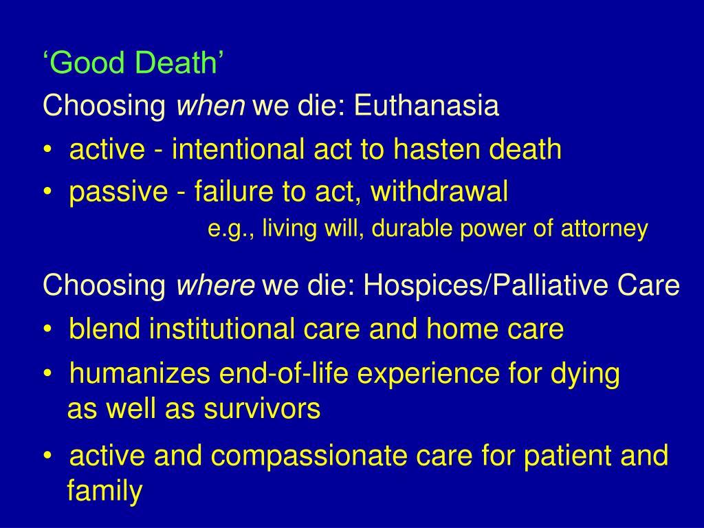 'Good Death'