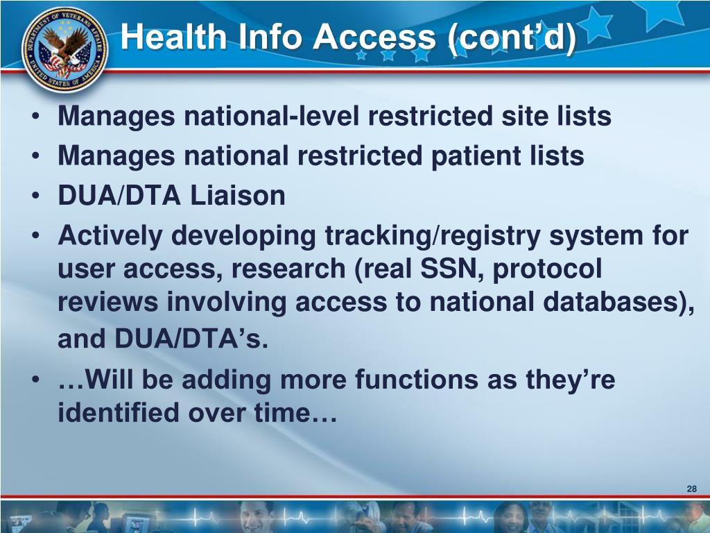 Health Info Access (cont'd)