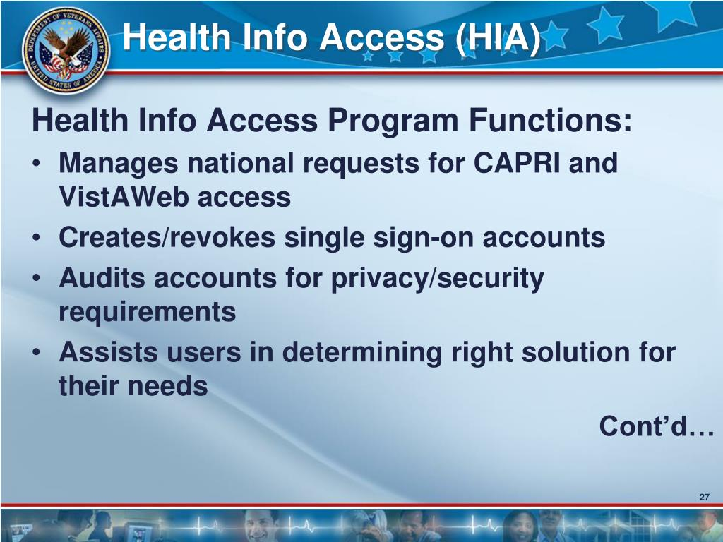 Health Info Access (HIA)