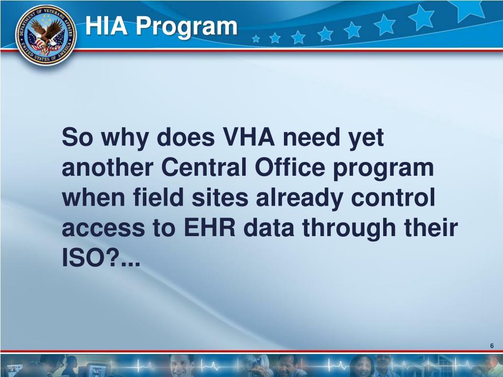HIA Program