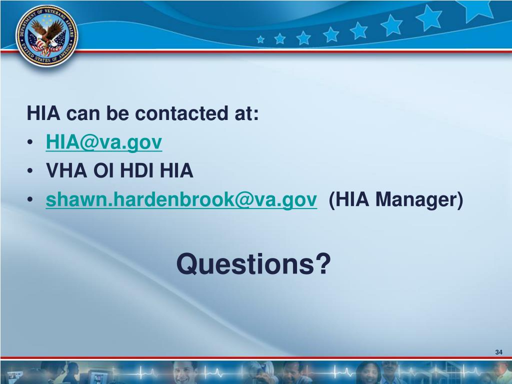 HIA can be contacted at: